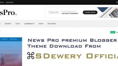 Photo of NewsPro Premium Blogger Template Download 20201